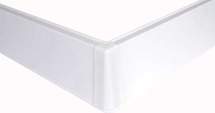 Põrandaliistu välisnurk PVC valge 22 x 75 mm
