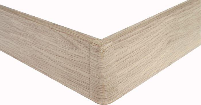 Põrandaliistu välisnurk PVC valge tamm 22 x 75 mm