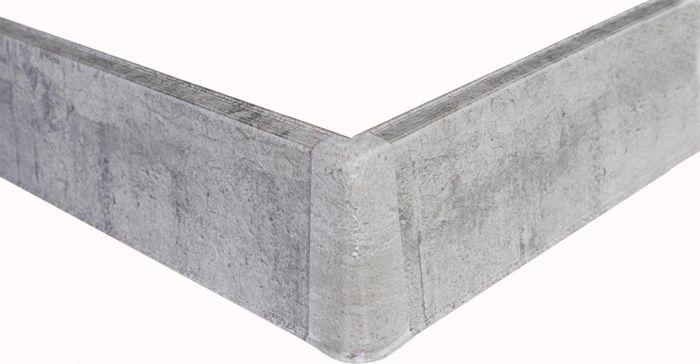 Põrandaliistu välisnurk PVC hall tamm 22 x 75 mm