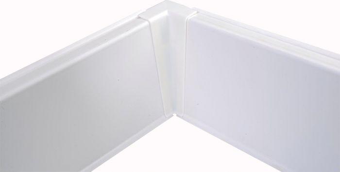 Põrandaliistu sisenurk PVC valge 22 x 75 mm