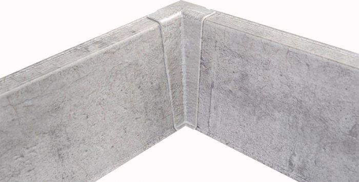 Põrandaliistu sisenurk PVC hall tamm 22 x 75 mm