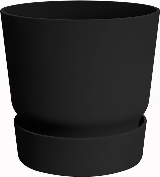 Õuepott Greenville Ø 30 cm, must