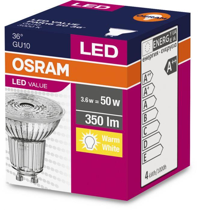 LED-lamp Osram 4,3 W, GU10