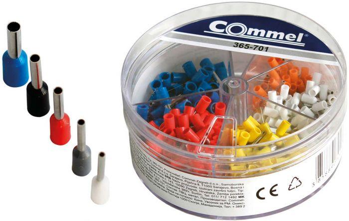 Isoleeritud otsahülside komplekt Commel 400-osaline