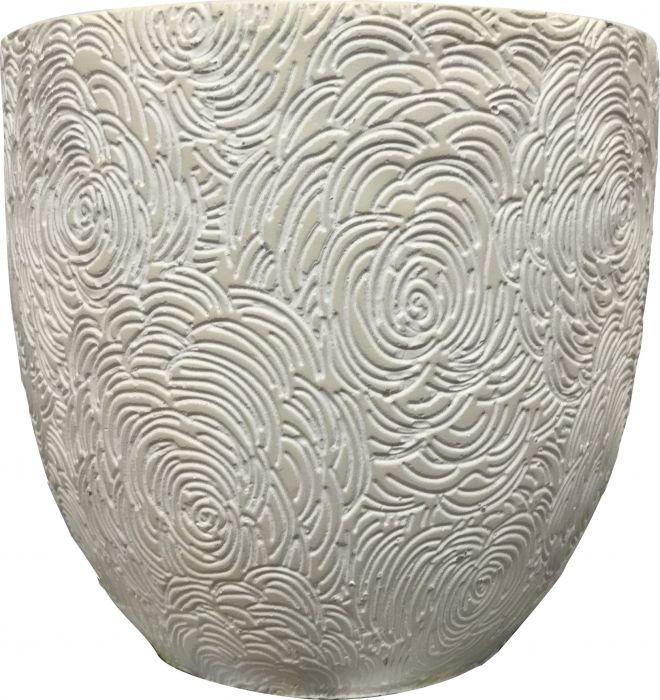Ümbrispott Ø 18,5 cm, kreemikas valge