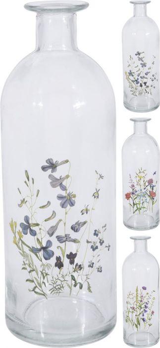 Klaaspudel mustriga 20 cm