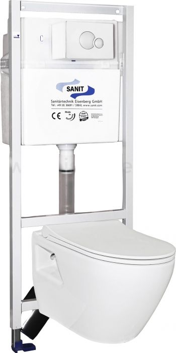 Seinapealne WC komplekt Sanit OBT