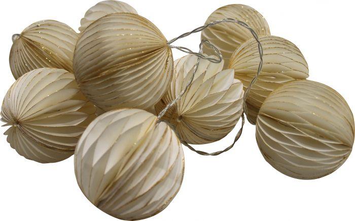 Valgussari Decorative 10-osaline, valge