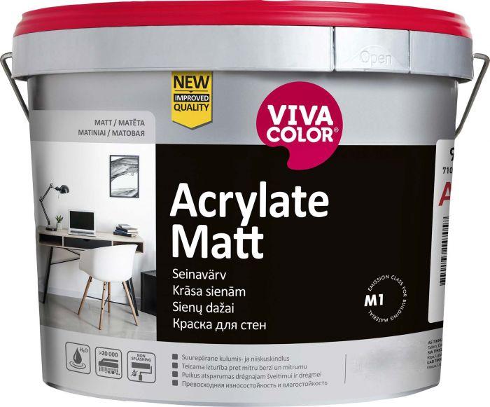 Kulumiskindel seinavärv Acrylate Matt 0,9 l