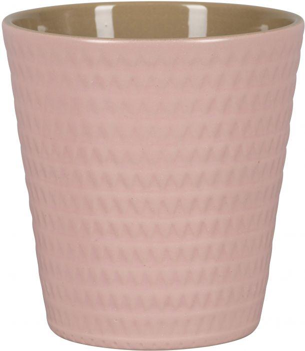 Ümbrispott Copenhagen nurgad Ø 13 cm, roosa