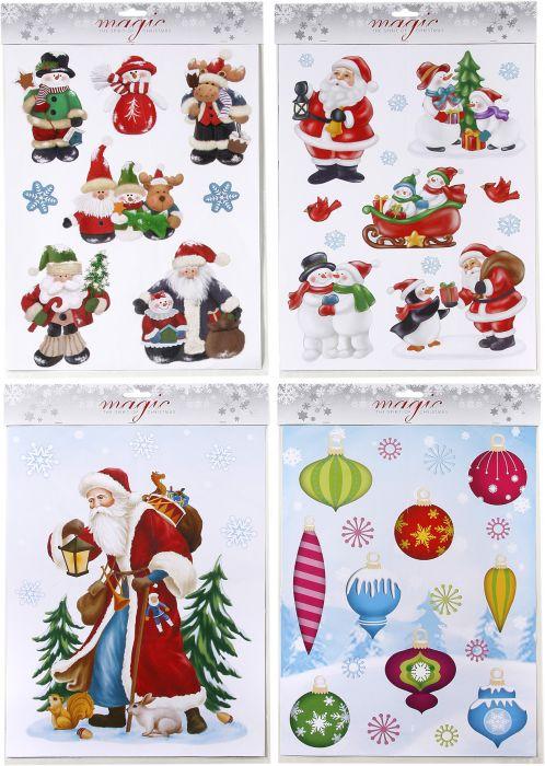 Aknakleebis Merry Christmas 29,5 x 40 cm