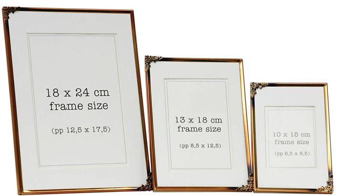 Pildiraam kuldne 13 x 18 cm