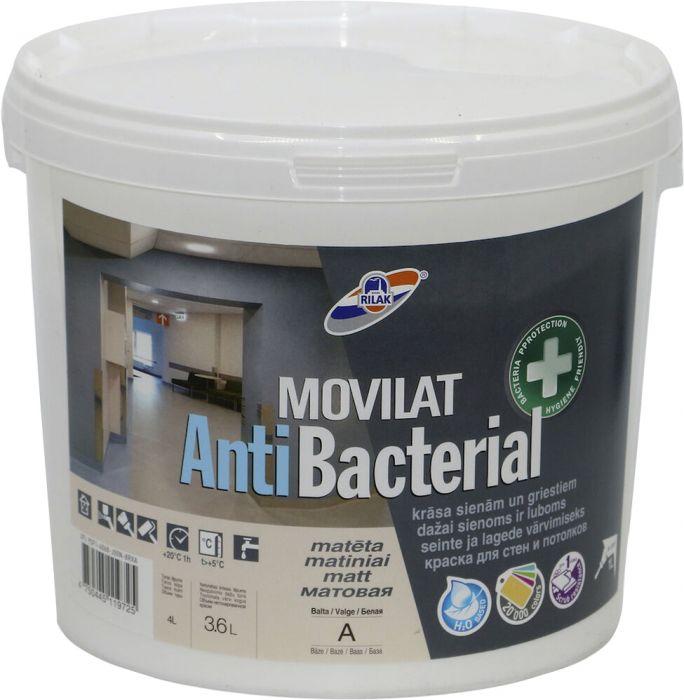 Sisevärv Rilak Movilat Antibacterial 3,6 l