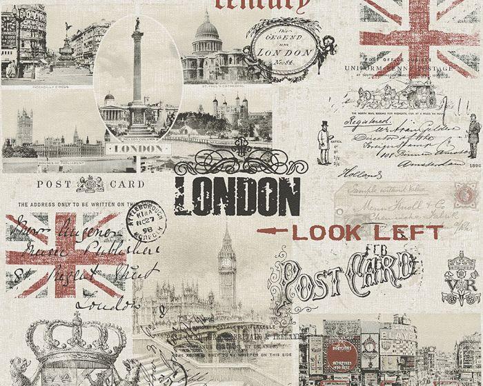 Pabertapeet Vintage London