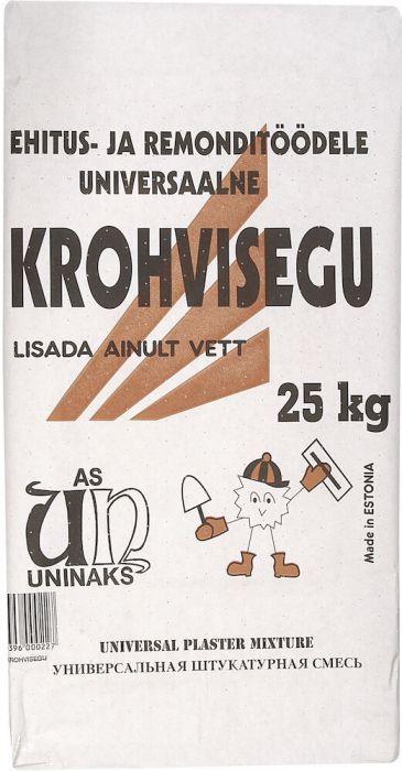 3 kotti krohvisegu Uninaks 25 kg