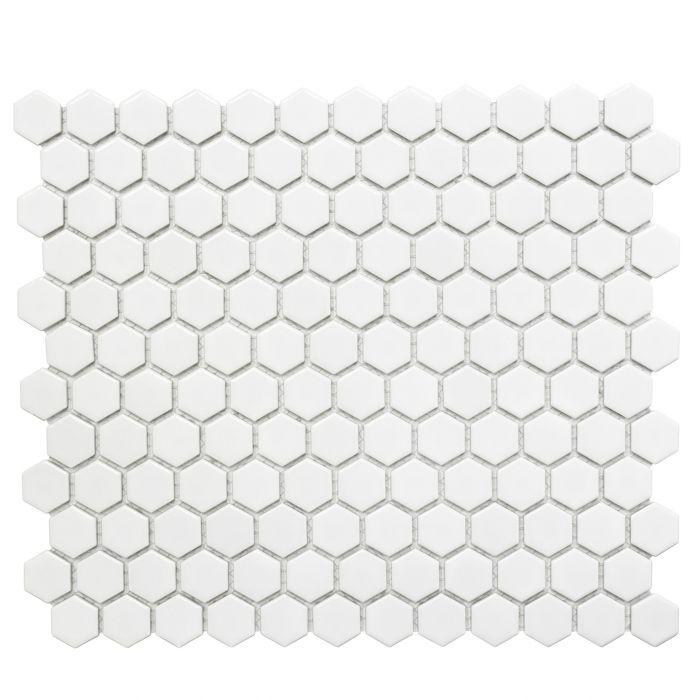 Mosaiik Hexagon valge 26 x 30 cm Läikiv