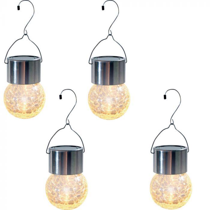 4 pakki Päikesepatareiga klaasvalgusti