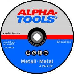 Lõikeketaste komplekt Alpha-Tools Metall A 24 R-BF