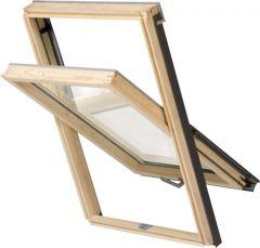 Täispuidust katuseaken Basic 780 x 1400 mm