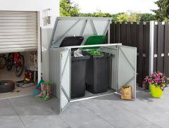 Prügikiasti katusealune metallist 1,4 m²
