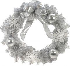 Jõulupärg Weiste 40 cm hõbedane