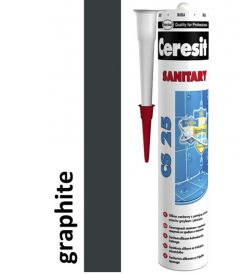 Sanitaarsilikoon Ceresit CS25 280 ml, grafiithall 16
