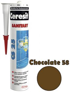 Sanitaarsilikoon Ceresit CS25 280 ml, Chocolate 58
