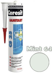 Sanitaarsilikoon Ceresit CS25 280 ml, Mint 64