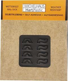 Märgid Wichelhaus HartPlastic must 15 mm