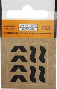 Märgid Wichelhaus HartPlastic must 30 mm