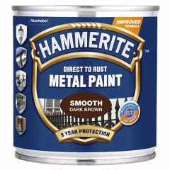 Metallivärv Hammerite Smooth 250 ml tumepruun