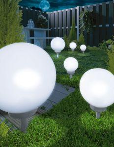 Päikesepatareiga valgusti Pall, Ø 20 cm