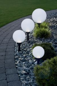 Päikesepatareiga valgusti Pall, Ø 15 cm