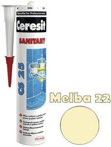 Sanitaarsilikoon Ceresit CS25 280 ml, Melba 22