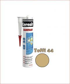 Sanitaarsilikoon Ceresit CS25 280 ml, Toffi 44