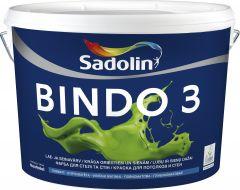 Lae- ja seinavärv Bindo 3 BW, täismatt valge 10 l