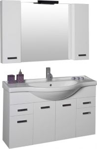 Vannitoamööbli komplekt Ordonez Bristol valge 105 cm