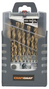 Metallipuuride komplekt Craftomat HSS-T 25-osaline