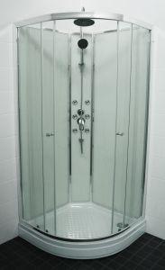 Dušikabiin Eago Raindrop 90 x 90 cm