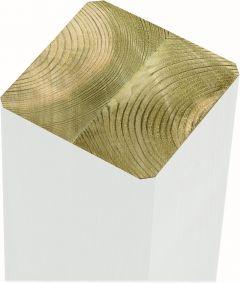 Post Plus  6,8 x 6,8 x 128 cm valge