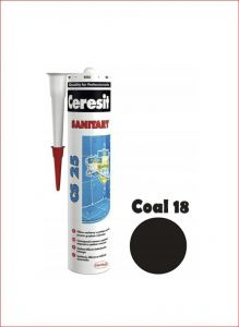 Sanitaarsilikoon Ceresit CS25 280 ml, Coal 18