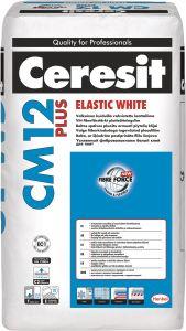 Elastne plaatimissegu CM12 Plus White 25 kg