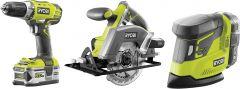 Ehitaja tööriistakomplekt Ryobi ONE+ R18DDPSCSP, 18 V