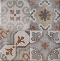 Seina-/põrandaplaat Cementina Mix Rosso 34 x 34 cm