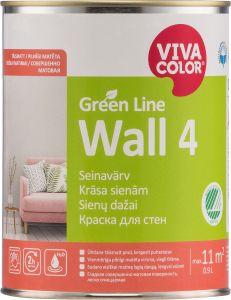 Seinavärv Green Line Wall 4 täismatt 0,9 l