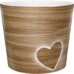 Ümbrispott Timber Heart Ø 11 cm