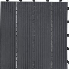Kõnnitee moodulplaadid 30 x 30 cm, hall