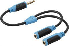Kõrvaklappide jagaja 3,5 mm - 2 x 3,5 mm