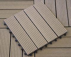 WPC terrassiplaat 10 tk/pk (2,2 x 30 x 30 cm)