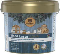 Dekoratiivne puidukaitsevahend Wood Lasur Aqua 5 l